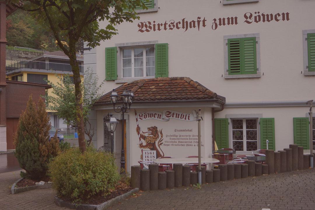 Restaurant Löwen in Seewen Ansicht von aussen